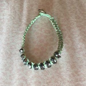 Light Green Jeweled Bracelet